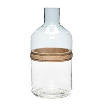Sticlă cu inel de lemn Hubsch Darion poza bonami.ro