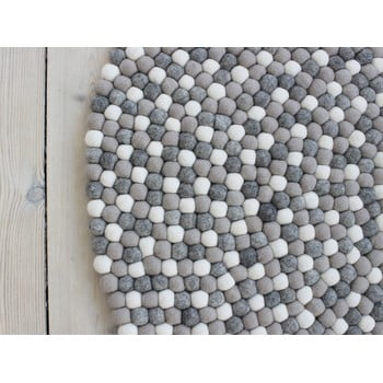Covor cu bile din lână Wooldot Ball Rugs, ⌀ 120 cm, gri deschis imagine