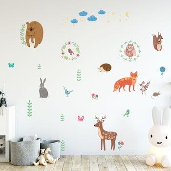 Set autocolante pentru perete Ambiance Scandinavian Animals of The Forest bonami.ro