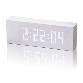 Ceas deșteptător cu LED Gingko Message Click Clock, alb bonami.ro