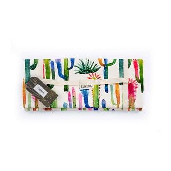 Pătură pentru picnic Surdic Watercolor Cactus, 170 x 140 cm poza bonami.ro