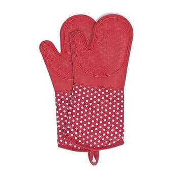 Set 2 mănuși din silicon Wenko Oven Red, roșu bonami.ro