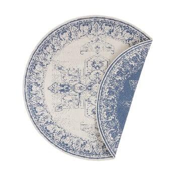 Covor adecvat pentru exterior Bougari Borbon, ø 200 cm, albastru-crem imagine