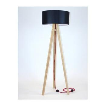 Lampadar cu abajur negru și cablu roșu Ragaba Wanda poza bonami.ro