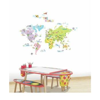 Set autocolante Ambiance World Map for Children poza bonami.ro