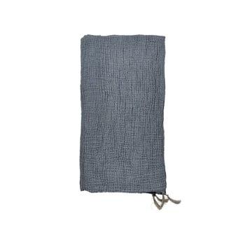 Cuvertură din bumbac pentru pat dublu Södahl Poetry,200x260cm, albastru imagine