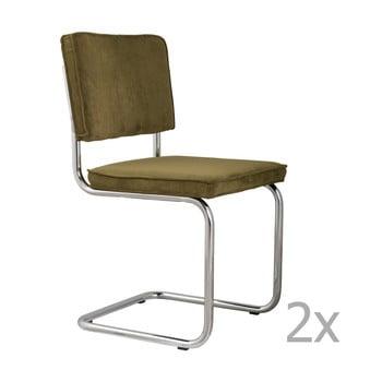 Set 2 scaune Zuiver Ridge Rib, verde bonami.ro