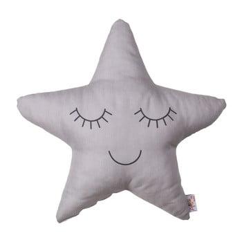Pernă din amestec de bumbac pentru copii Mike&Co.NEWYORK Pillow Toy Star, 35 x 35 cm, gri bonami.ro