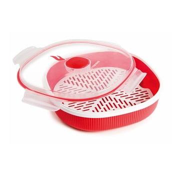 Set pentru gătirea pe aburi în cuptorul cu microunde Snips Dish Steamer, 2 l, roșu poza bonami.ro