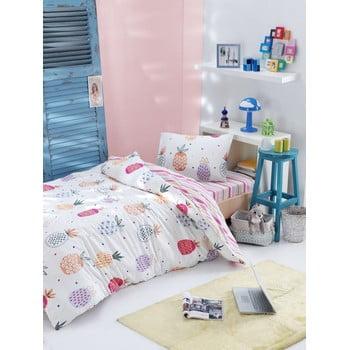 Lenjerie de pat din bumbac ranforce pentru pat de 1 persoană Mijolnir Iva Mix, 140 x 200 cm bonami.ro