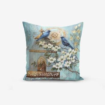 Față de pernă din amestec de bumbac Minimalist Cushion Covers Blue Bird, 45 x 45 cm bonami.ro