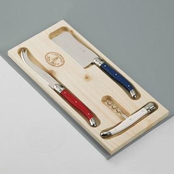 Set 3 tacâmuri din inox pentru brânzeturi, în cutie de lemn Jean Dubost Paris bonami.ro