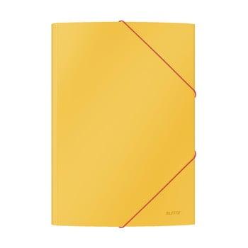 Set 10 dosare de birou cu înveliș moale Leitz Cosy, A4, galben bonami.ro