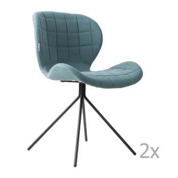 Set 2 scaune Zuiver OMG, albastru bonami.ro