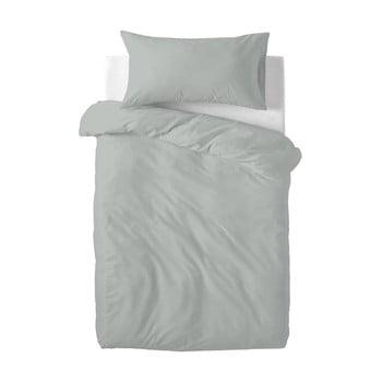 Lenjerie de pat din bumbac pentru copii Happy Friday Basic, 100x120cm, gri poza bonami.ro