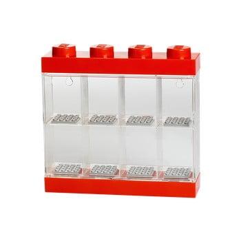 Cutie pentru 8 minifigurine LEGO®, alb - roșu bonami.ro