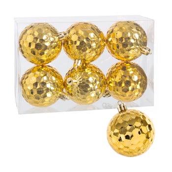 Set 6 globuri pentru Crăciun Unimasa, auriu bonami.ro