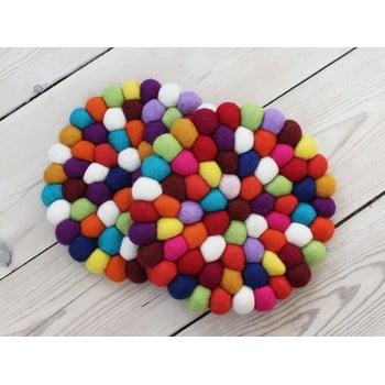 Suport pahar, cu bile din lână Wooldot Ball Coaster, ⌀ 20 cm, roșu închis bonami.ro