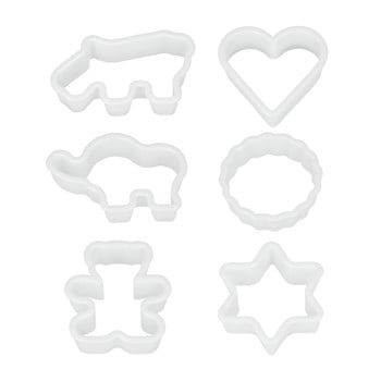 Set 6 forme din plastic pentru prăjituri Metaltex Cookie Cutters poza bonami.ro