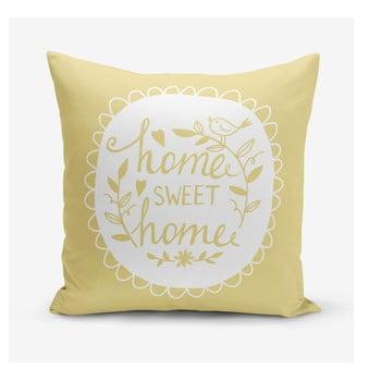 Față de pernă Minimalist Cushion Covers Home Sweet Home, 45 x 45 cm, galben bonami.ro