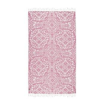 Prosop hammam Kate Louise Camelia, 165 x 100 cm, roz poza bonami.ro