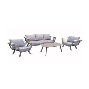 Set mobilier de grădină din 4 piese, cadru din aluminiu ADDU Elia imagine