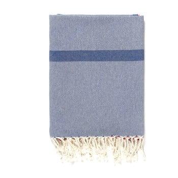 Prosop de plajă Kate Louise Cotton Collection Line, 100 x 180 cm, albastru-gri-roz poza bonami.ro