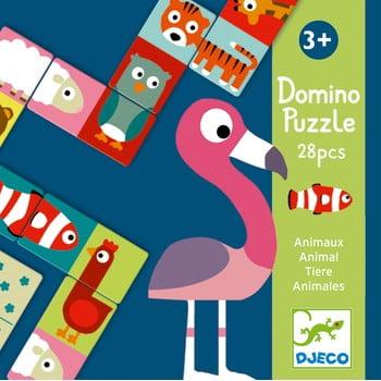 Domino cu 2 fețe pentru copii Djeco Animale poza bonami.ro