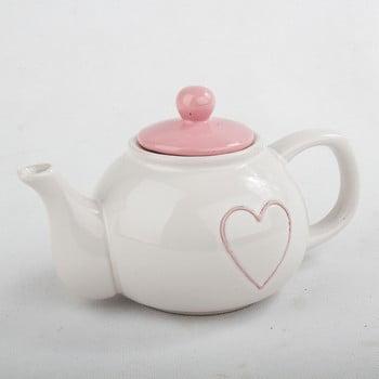 Ceainic din ceramică cu capac roz Dakls, 1l bonami.ro