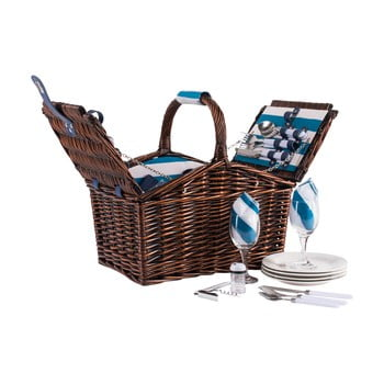 Coș picnic cu echipament pentru 4 persoane Navigate Basket poza bonami.ro