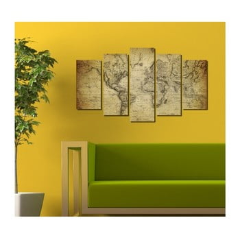 Tablou din mai multe piese 3D Art Darma, 102 x 60 cm poza bonami.ro