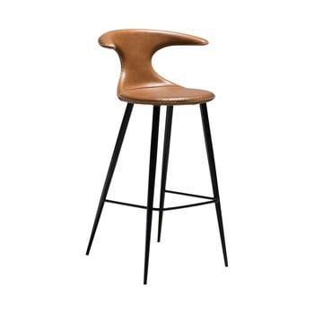 Scaun bar, piele, DAN-FORM Denmark Flair, maro imagine