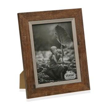 Ramă foto din lemn pentru fotografie Versa Madera Marron, 22,5x27,5cm poza bonami.ro