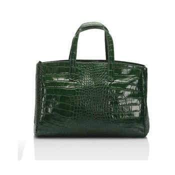 Geantă din piele Lisa Minardi Magnata, verde imagine