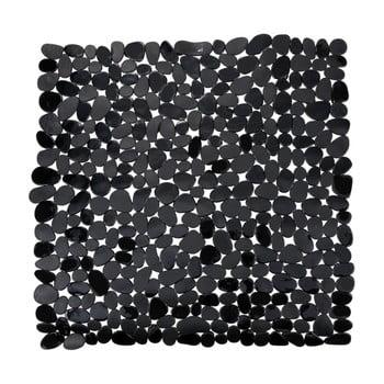 Covor baie anti-alunecare Wenko Drop, 54x54cm, negru bonami.ro