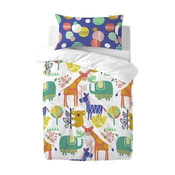 Lenjerie de pat din bumbac pentru copii Moshi Moshi Jungle, 100 x 120 cm poza bonami.ro