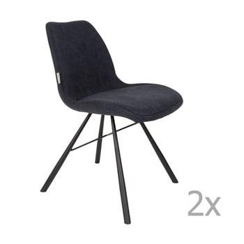 Set 2 scaune Zuiver Brent, albastru închis bonami.ro