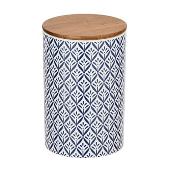 Cutie depozitare din ceramică cu capac din bambus Wenko Lorca, 1,45 l poza bonami.ro
