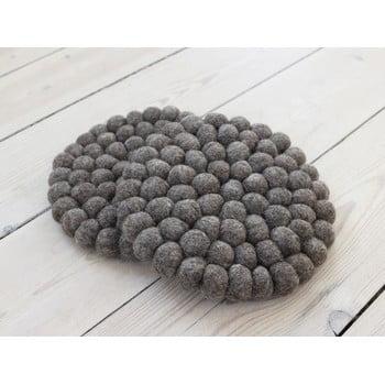 Suport pahar, cu bile din lână Wooldot Ball Coaster, ⌀ 20 cm, maro nucă bonami.ro