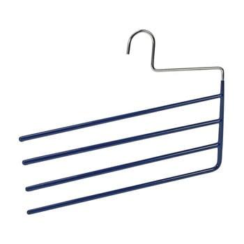 Umeraș antiderapant cu 4 suporturi pentru pantaloni Wenko Hanger Baggy, albastru bonami.ro