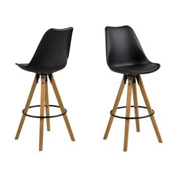 Set 2 scaune de bar Actona Dima, negru imagine