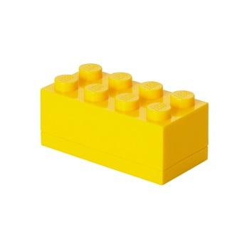 Cutie depozitare LEGO® Mini Box Yellow Lungo, galben poza bonami.ro