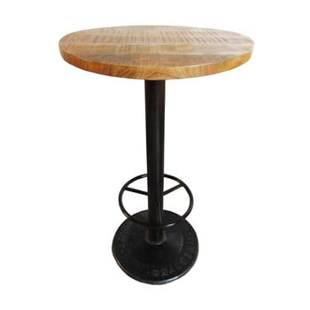 Masă tip bar cu blat din lemn de mango Antic Line Mange, ø60cm imagine