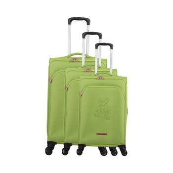 Set 3 trolere cu 4 roți Lulucastagnette Emilia, verde imagine