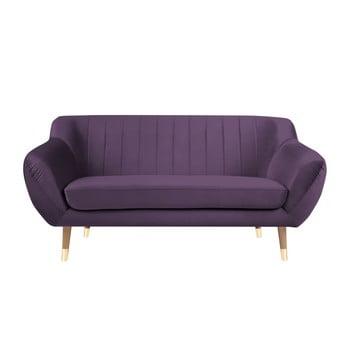 Canapea cu tapițerie din catifea Mazzini Sofas Benito, violet, 158 cm poza bonami.ro