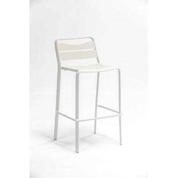 Set 2 scaune de bar de grădină din aluminiu Ezeis Spring, alb imagine