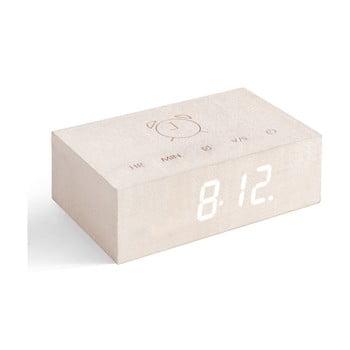 Ceas deșteptător cu LED Gingko Flip Click, bej bonami.ro