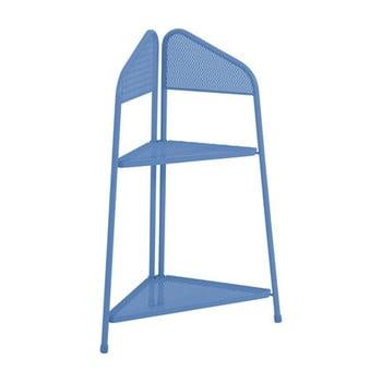 Etajeră metalică pe colț pentru balcon ADDU MWH, înălțime 100 cm, albastru poza bonami.ro