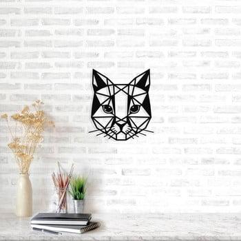 Decorațiune metalică de perete Cat, 45 x 49 cm, negru poza bonami.ro