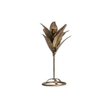 Sfeșnic în formă de frunză BePureHome, înălțime 32 cm, auriu poza bonami.ro
